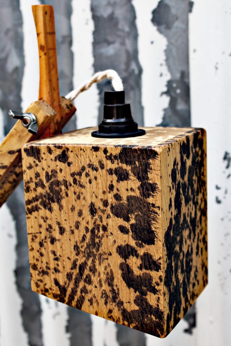 Acetato di ferro sul rovere
