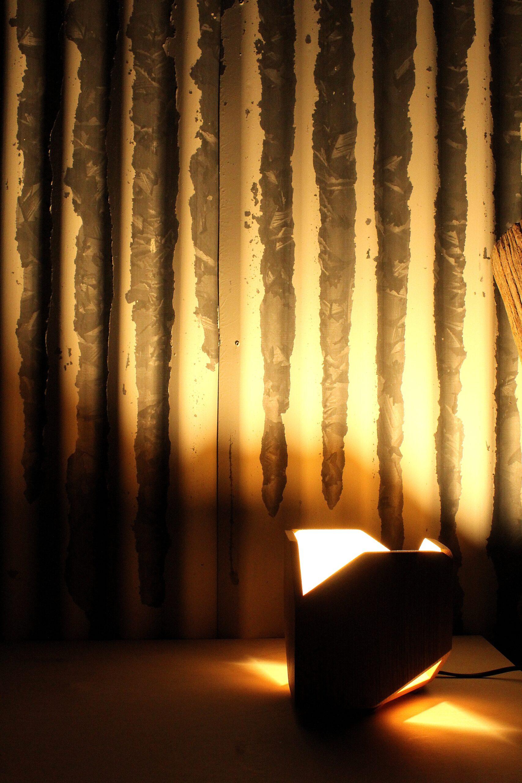 lampade da comodino - artigianato in legno - padova