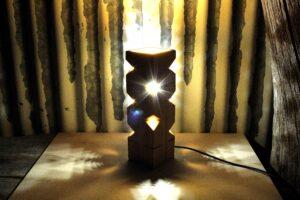 Artigianato in legno - lampada cactus